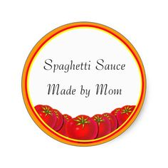 canning labels   Spaghetti Sauce Custom Canning Labels Sticker on Zazzle.co.nz