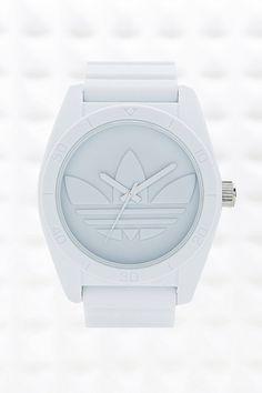 b5b9938ad53e7 Adidas Originals Large Santiago Watch in White Santiago, Michael Kors Watch,  Festival Fashion,