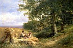 Les Moissonneurs de George Vicat Cole (1833-1893, United Kingdom)