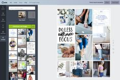 How to Create Your Vision Board in Canva — Think Creative Collective Vision Board Template, Digital Vision Board, Visual Meaning, Photo Folder, The Desire Map, Creating A Vision Board, Grid Layouts, Visualisation, How To Look Pretty