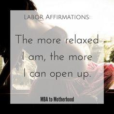 Preparing for Labor: Free Printable Labor Affirmations