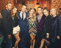 Stephen Amell, Emily Bett Rickards, David Ramsey, Katie Cassidy, Colton Haynes, Willa Holland, and Susanna Thompson.