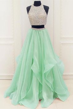 Two Pieces Sweet 16 Dresses Prom Dresses Evening Party Gown Formal Wear