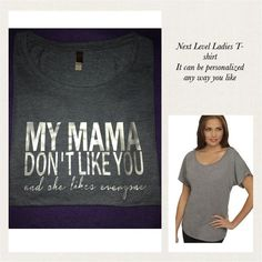 Next Level Ladies T-shirts ...it can be personalized any way you like. #nextlevel #personalized #embroidery #embroidered #ladiestshirt #ladiesclothing #bridesmaids #brides #comment4comment #comment #cynthiascraftsinvirginia #blanks #blankstshirts