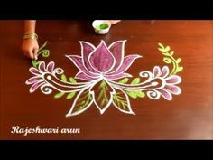 LOTUS kolam with dots 11*6 II Beautifull lotus kolam II sankranthi muggulu - YouTube