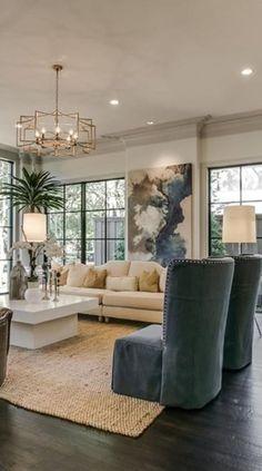 Contemporary living room {wineglasswriter.com}