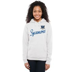Indiana State Sycamores Women's Dora Pullover Hoodie - White