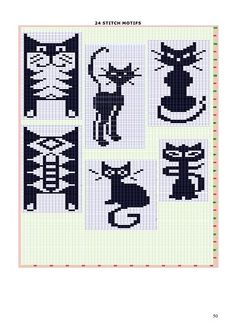 Cat Figura - maomao - I azione del cuore Knitting Charts, Knitting Stitches, Knitting Patterns, Crochet Patterns, Chat Crochet, Crochet Chart, Cross Stitching, Cross Stitch Embroidery, Cross Stitch Patterns