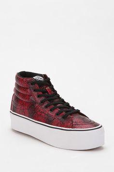 Vans SK8 Snake Leather High-Top Flatform-Sneaker  #UrbanOutfitters