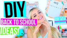 DIY Back to School Projects! Supplies, Room Decor & Clothes!   Aspyn Ovard