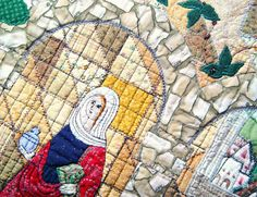 Art Quilt  Wise woman by BozenaWojtaszek on Etsy. I want everything from her shop.
