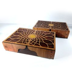 new box designs for laser cut, for download the file with dxf, pdf, cdr, svg, eps,  formats visit etsy.com Wooden Christmas Crafts, Wooden Crafts, Xmas Crafts, Laser Cutter Ideas, Laser Cutter Projects, Laser Cut Box, Laser Cutting, Laser Cut Designs, Wood Laser Ideas