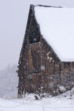 Winter Has Arrived At The Barn   ..rh