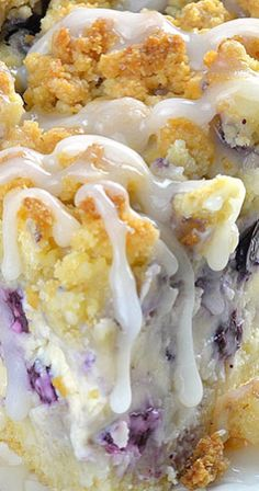Blueberry Cheesecake Crumb Cake.