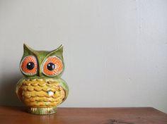 cute vintage owl bank