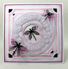 Happy Tuesday, I thought It was time for a change in die as I seem to have shared a lot of cards with the Gerbera Panel die recently! Die Cut Cards, Happy Tuesday, Things To Think About, Birthday Cards, Card Making, Cricut, Damselflies, Sue Wilson, Butterfly
