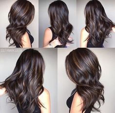Dimensional bayalage dark brunette with caramel bayalage