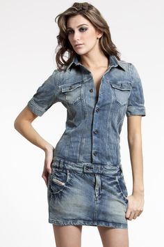 Diesel Vintage Style Denim Dress