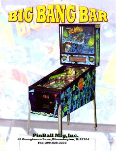 Pinball Mfg. Inc. BIG BANG BAR Remake Of Capcom Pinball Machine Sales Flyer Mint #PinballMfgIncBigBangBar