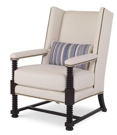 Shop the Wylie Wing Chair by Century Furniture at Furnitureland South, the World's Largest Furniture Store and North Carolina's Premiere Furniture Showroom. Large Furniture, Quality Furniture, Snug Room, Wing Chair, Design Files, Free Design, Accent Chairs, Armchair, Upholstery