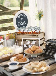 A baby shower feast!  | Photography by Anne Robert, Styling by Something Vintage Rentals