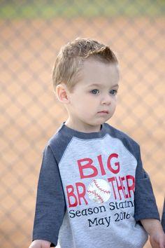 5d046a23762 Big Brother Season Starting Shirt Baseball Pregnancy Announcement