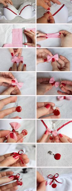 Super cute idea for updating bras! (or swimsuits... although probably need to use better quality add-ons)