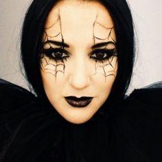 #Maquillaje de #Halloween: tela de araña