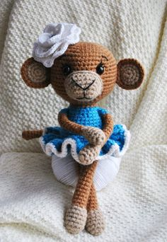 Easy to follow along. Very detailed. Loved making her!! #crochet #monkey #pattern
