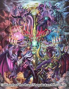 Emperor of the Gods Fantasy Demon, Fantasy Beasts, Fantasy Monster, Fantasy Art, Myths & Monsters, Cool Monsters, Fantasy Creatures, Mythical Creatures, Mythical Dragons