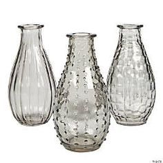 Wedding Vases | Oriental Trading Company Table Centerpieces For Home, Vase Centerpieces, Bud Vases, Centerpiece Ideas, Small Glass Vases, Glass Jars, Wedding Centerpieces, Wedding Decorations, Table Decorations