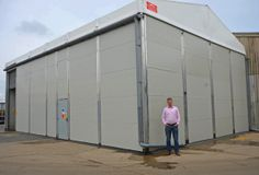 Smart Space, the temporary building specialist, install a custom built insulated cold store at APS Salads, completed in one week from enquiry.