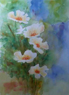 Dan Crista: anemone, watercolor sketch