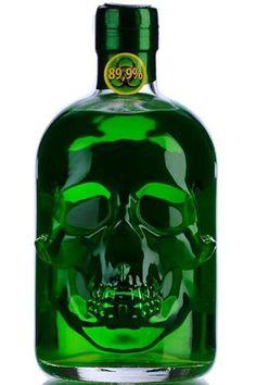 {Liquid Spirit} Skull Absinthe #absinthe #skull #greenfairy