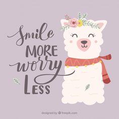 Smile More Worry Less, Cute Baby Alpaca Advice Acrylic Box by Cuteness - 4 X 4 X 3 Alpacas, Cute Alpaca, Llama Alpaca, Kawaii Alpaca, Doodle, Lavender Quotes, Llamas Animal, Funny Animal, Acrylic Box
