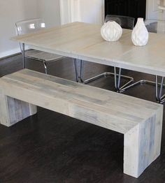 Reclaimed Wood Bench by Raka Mod on Scoutmob Shoppe. Love the bleached wood of this bench, which is made from oak and pine shopping pallets. Decor, Reclaimed Wood Benches, Sweet Home, Home Decor Items, Furniture, Wood Furniture, Home Furniture, Find Furniture, Wood Bench