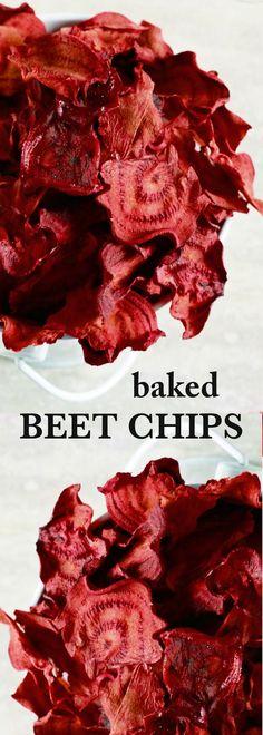 baked chips   beet chips   homemade chips   easy snack   healthy snack ideas   vegan snack ideas   gluten free snacks   vegetarian snacks   clean eating snacks   paleo snacks   cheap snacks
