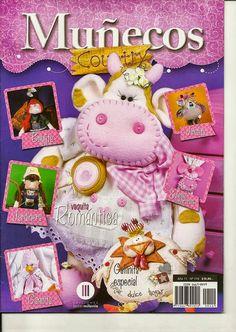 Revistas de manualidades gratis: como hacer una vaca en fieltro Book Crafts, Felt Crafts, Crafts To Make, Fabric Crafts, Diy Crafts, Sewing Magazines, Country Crafts, Bindi, Felt Toys