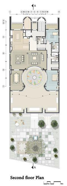 Imagen 19 de 22 de la galería de Renovación de una casa en Kaveh Teherán / Pargar Architecture and Design Studio. Planta Segundo Piso
