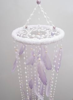 Light purple Nursery Mobile Bаbу Mobiles by MagicalSweetDreams Drop in to my etsy shop