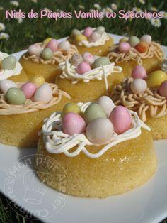 nids de paques 008 Homemade Cake Recipes, Best Cake Recipes, Pound Cake Recipes, Mini Desserts, Easy Desserts, Macaron Flavors, Macaron Recipe, Chocolate Easter Cake, Cake Recipes From Scratch