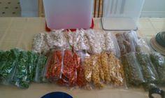 Crunchy snacks.   Roasted peas, roasted corn original & chili lime, edamame, sunflower seeds & almonds! Yumminess!