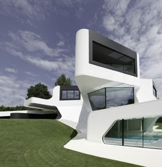 Dupli Casa by J. MAYER H. Architects. Dupli Casa is the residence near Ludwigsburg, Germany. The house geometry is based on the house which was there before J. MAYER H. redesigned it.