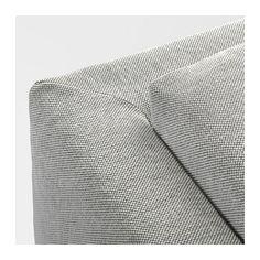NOCKEBY Sofa, Tallmyra white/black, chrome plated Tallmyra white/black chrome plated
