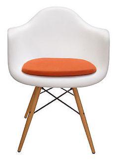 vinyl cushion for eames molded plastic arm chair door