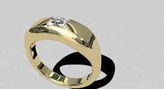 Ring gold and diamond