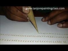 this video demonstrates a few simple border designs used in Tanjore paintings Mural Painting, Texture Painting, Diy Painting, Mysore Painting, Tanjore Painting, Boarder Designs, Calligraphy For Beginners, Madhubani Art, Indian Folk Art