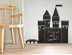 Castle Chalkboard Wall Decal New Zealand Chalkboard Wall Bedroom, Chalkboard Vinyl, Blackboard Wall, Bedroom Wall, Kids Bedroom, Wall Stickers, Decals, Wall Decal, Chalk Lettering