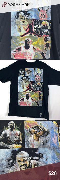 50bff79edeb Iced Out Michael Jordan Chicago Bulls T Shirt Vintage Michael Air Jordan T  Shirt Size XXL