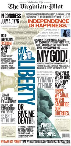 Virginian Pilot 4th of July typographic cover
